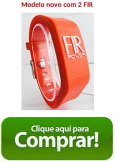 bracelete fir power double laranja